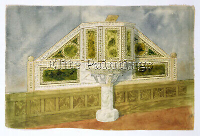 Tiffany Design For Marble Pulpit Ca 1900 Artist Painting Oil Canvas Repro Deco