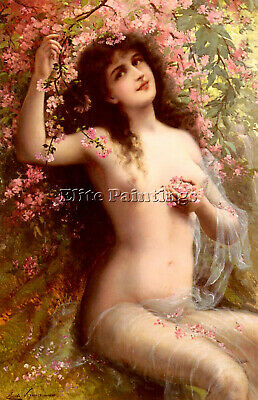 Vernon Emile Among The Blossoms Artist Painting Reproduction Handmade Oil Canvas
