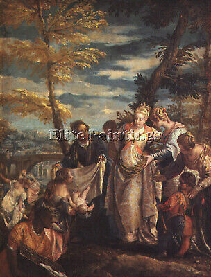 Veronese The Finding Of Moses Artist Painting Reproduction Handmade Oil Canvas
