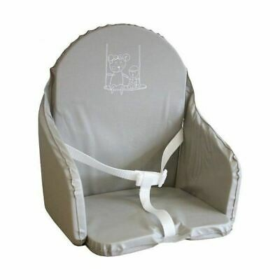 Looping Coussin Chaise Haute Sangles Gris Perle