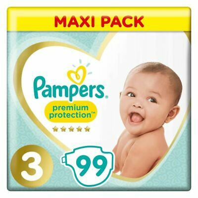 PAMPERS Premium Protection Taille 3 - 6 a 10 kg - 99 Couches - Mega Pack