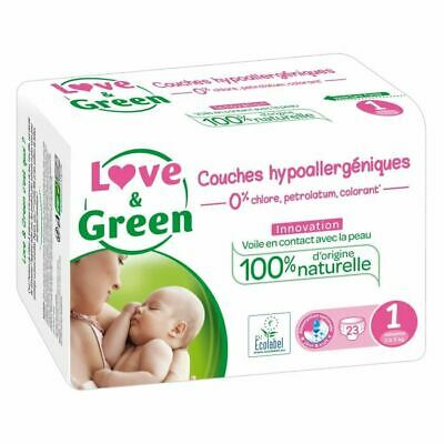 LOVE AND GREEN Couches ecolabellisées Taille 1 - 23 couches