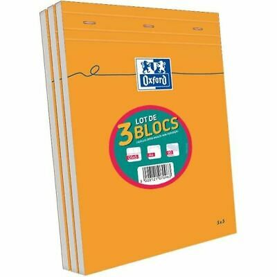 OXFORD 3 blocs-notes agrafés A4 - 160p - 80g - 5x5 - Orange