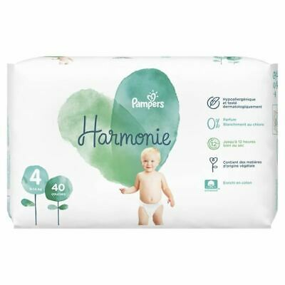 PAMPERS Harmonie Taille 4, 9-14 kg, 40 Couches