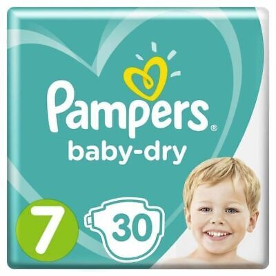 Pampers Baby-Dry Taille 7, 15+ kg, 30 Couches