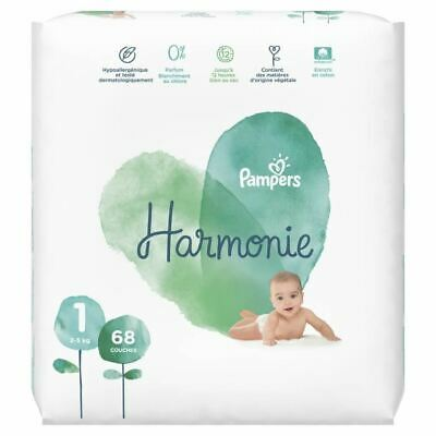 PAMPERS Harmonie Taille 1 - 2 a 5 kg - 68 couches