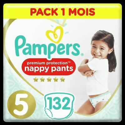 Pampers Active Fit Pants Taille 5, 132 Couches-Culottes - Pack 1 Mois