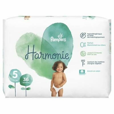 PAMPERS Harmonie Taille 5, 11 kg+, 36 Couches