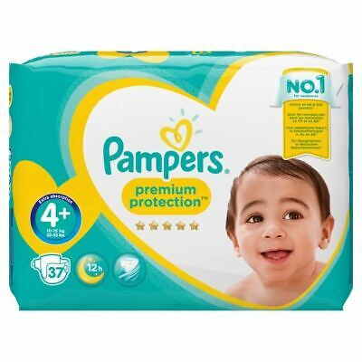 PAMPERS Premium Protection Taille 4+ - 9 a 18 kg - 37 Couches