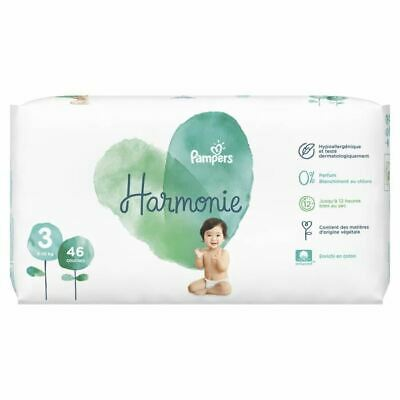 PAMPERS Harmonie Taille 3, 6 -10 kg, 46 Couches