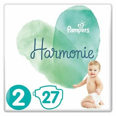 PAMPERS Harmonie Taille 2, 4-8 kg, 27 Couches