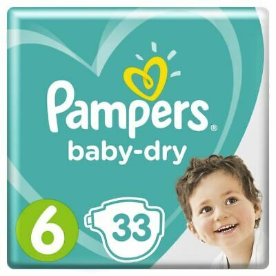 Pampers Baby-Dry Taille 6, 13-18 kg, 33 Couches - Géant