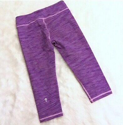 Girls Ivivva By Lululemon Athletic Woven Crop Leggings Purple - Saize 10