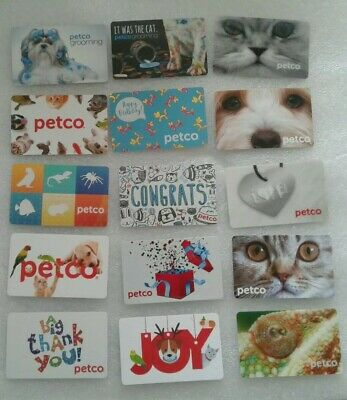 Fifteen ( 15 ) Different Petco Gift Cards, Collectible, Mint, Beautiful