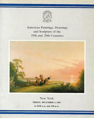 Christie's Sale 5238 American Paintings Drawings Sculpture Auction Catalog 1982