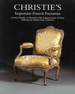 Christie's Sale 5730 Important French Furniture Auction Catalog 1996
