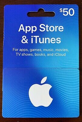 App Store & iTunes $50.00 Gift Card Fast Free Shipping