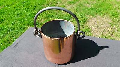Antique French Copper Pot or Bowl Indoor Planter Jardiniere Copper Hand Hammered