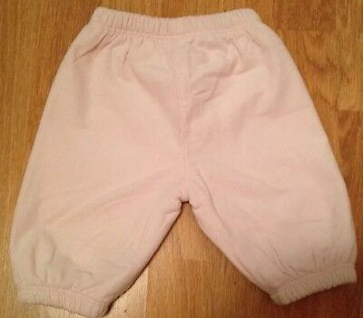 MOTHERCARE Baby Girl Trousers Pants Bottoms Pink Thick Padded Warm Clothes 0-3