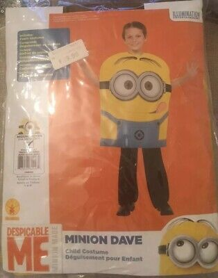 RUBIE'S DESPICABLE ME Costume Fancy Dress MINIONS DAVE Official Med 132cm 5 6 7