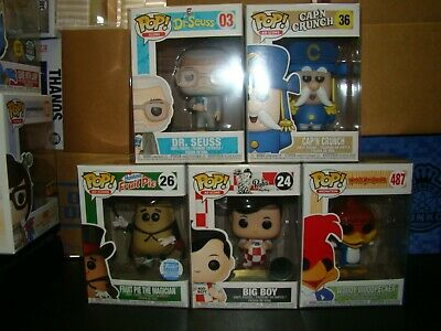 Funko Pop Icons And Animation Lot Of 5 With Fruit Pie The Magician-Vhtf