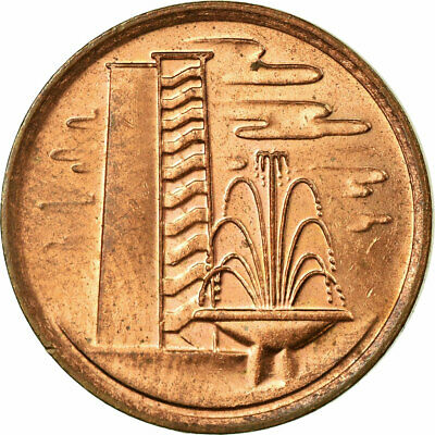 [#724943] Coin, Singapore, Cent, 1982, EF, Copper Clad Steel, KM:1a