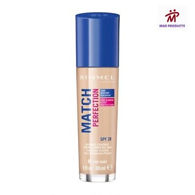 Rimmel Match Perfection Foundation Light Coverage Spf20 *Choose Your Shade*