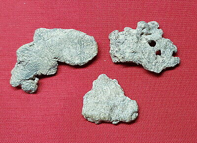 Roman Republic , 3 Pieces of Artifacts Lead , Production , 23,7 grams