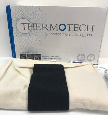 Thermotech Automatic Digital Moist Heating Pad Used Larger box