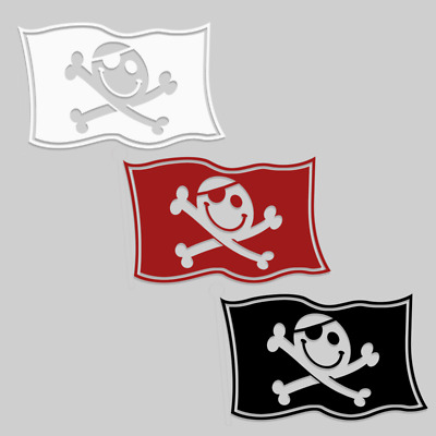 Defcon Pirate Flag Hacker Vinyl Laptop Sticker
