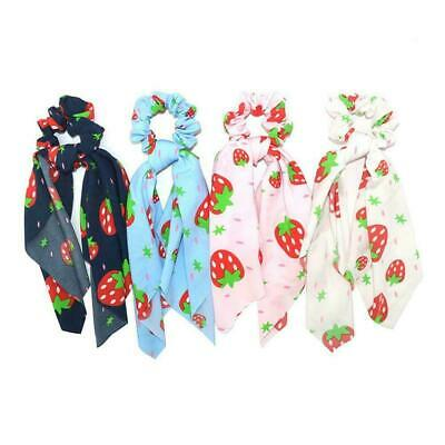 Floral Bow Scrunchie Ponytail Scarf Elastic Hair Rope New Hair Ribbon Ties L9F1