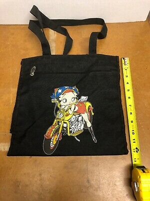 Betty Boop Zipper Pocket Hand Bag Pre-owned  Barely Used Sharp See Pictures