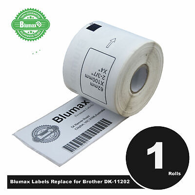 Blumax Shipping Label Refill Replace Brother DK11202-62x100mm QL500/QL720NW