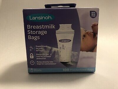 Lansinoh Breastmilk Breast Pump Pre-sterilized Storage Bags 100 Count