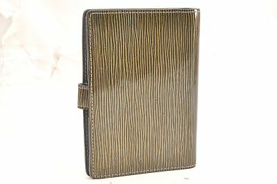Auth Louis Vuitton Cyber Epi Agenda PM Day Planner Cover Green M99080 LV 62136