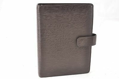 Authentic Louis Vuitton Epi Agenda MM Day Planner Cover Brown LV 60228