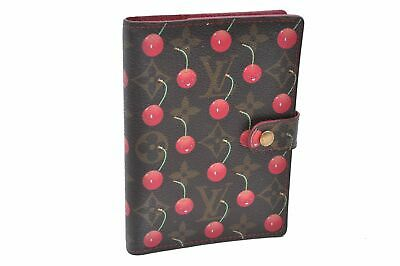 Auth Louis Vuitton Monogram Cherry Agenda PM Day Planner Cover R21023 LV 70204