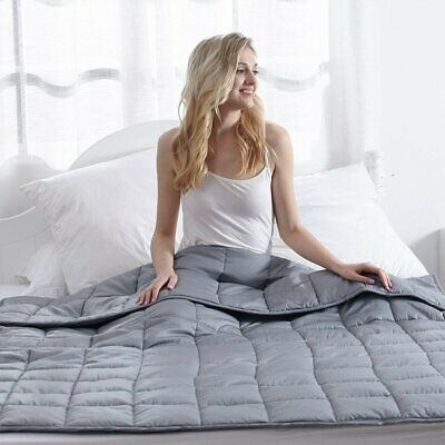 Deluxe Super Soft Weighted Blanket 20 lbs 48''x72'' Full Size Promote Deep Sleep