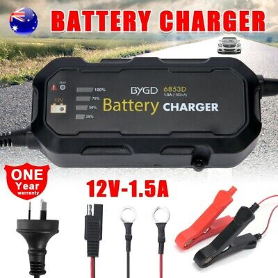 1.5A 12V Smart Battery Maintainer Charger Automatic SLA AGM Car Boat Motorcycle