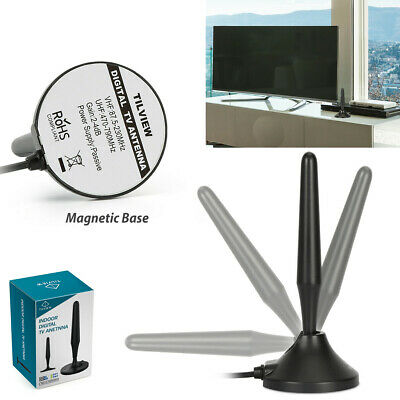 1byone Digital Aerial HD Indoor 40Mile TV Antenna  Freeview Portable Mini 1080P