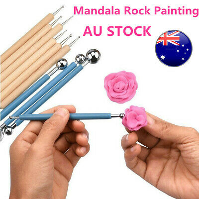 10 Pcs Dotting DIY Tools Stainless Steel Ball Styluses for Mandala Rock Painting