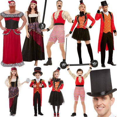 Greatest Showman Fancy Dress Costumes Ringmaster Strongman Bearded Lady