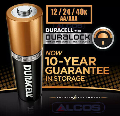 Duracell AAA / AA 1.5V DURALOCK Copper Top Alkaline Battery 12x/24x/30x/36x/40x