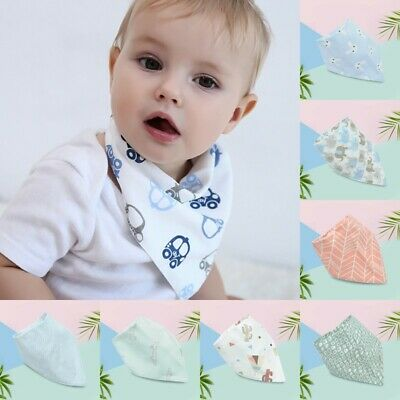 Cute Cotton Infant Baby Bibs Feeding Saliva Towel Triangle Dribble Bandana Scarf