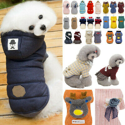 New Puppy Pet Dog Clothes Hoodie Winter Warm Sweater Coat Costumes Apparel