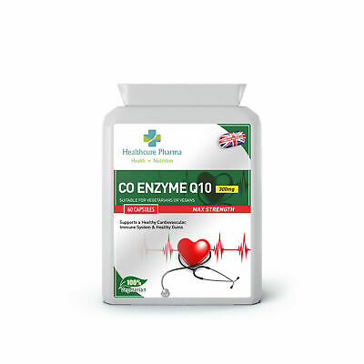 Co Enzyme Q10 300mg 60 Capsules - Antioxidant, Heart, Energy Supplement UK Made