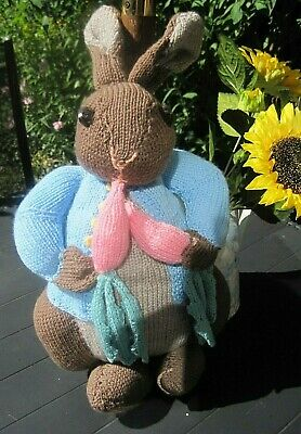 A Cuddly Hand Knitted Peter Rabbit. 18 Inches Tall. Easter Gift Idea?