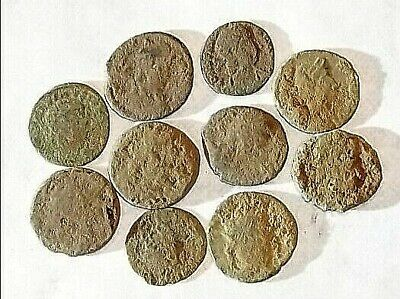10 ANCIENT ROMAN COINS AE3 - Uncleaned and As Found! - Unique Lot 21738