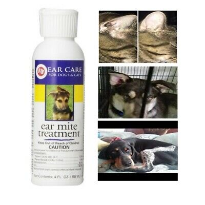 Dog Ear Mites For Cleaning Infection Drops Treatment Medicine Solution Protectio