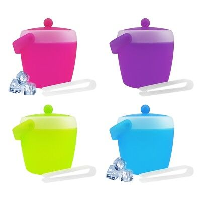 2L Ice Cube Holder with Lid Pliers Ice Bucket Eiswürfeleimer Ice Bucket Ice Cube
